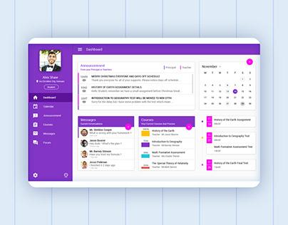 Student management system ui | ux design