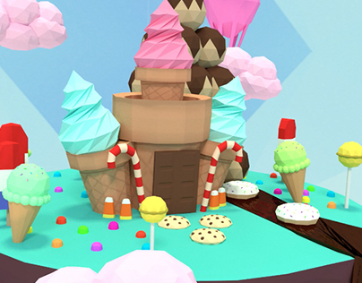 Low Poly Candyland Animation