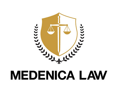 Medenica Law Logo Design