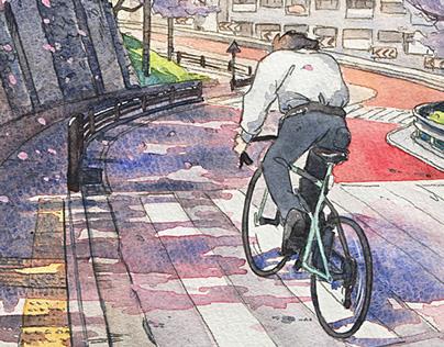 """""""Bicycle Boy"""" series"""
