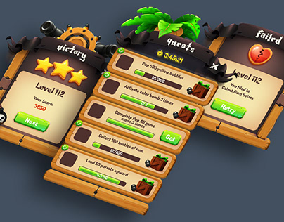 Pirate Wood Game GUI