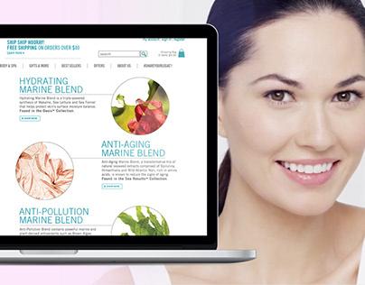 H2O+ Beauty UI Design