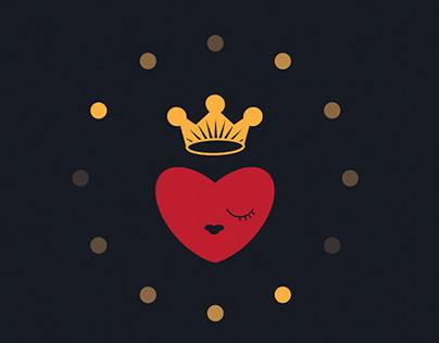 Queen of Hearts Pattern Design