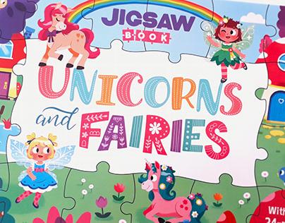 Unicorns and Fairies (Jigsaw Book)