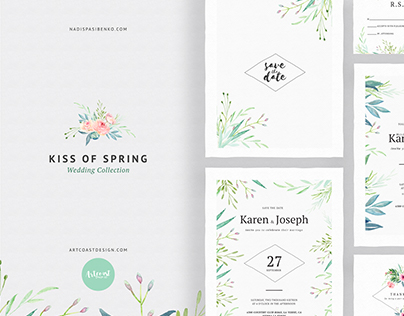 Kiss of Spring Wedding Collection - Invitations