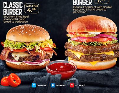 Bold Burger Flyer Template