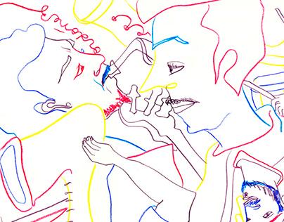 jam jazz en tríada de colores