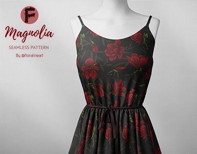 Magnolia Floral Pattern Design