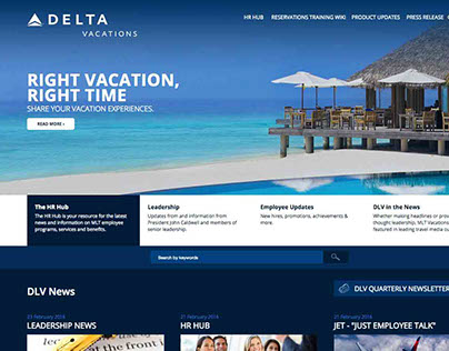 MLT Vacations - Intranet - Redesign Mockup