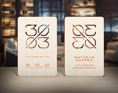 30 / 03 - Wood business card