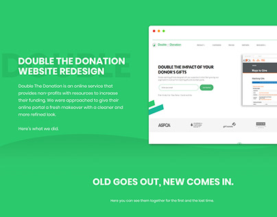 Website Redesign - DoubleTheDonation - SimplePlan Media