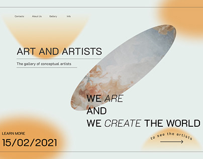 Web for a gallery