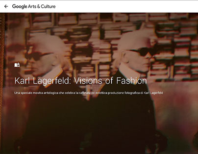 """""""Visions of Fashion"""" Exibition of Karl Lagerfeld."""