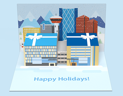 Bow Valley College Holiday Card Concept