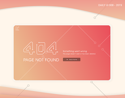 DAILY UI 008 - 404 Error