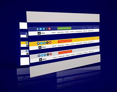 Download free Elementor header template 23
