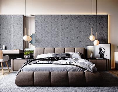 dark rock bedroom
