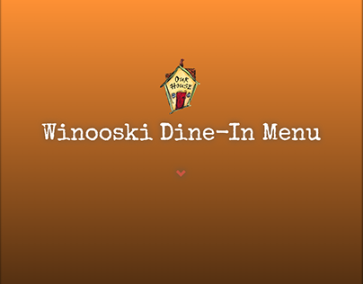 Winooski Menu