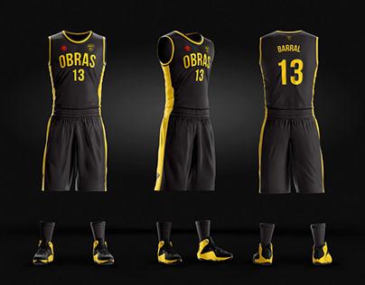 Diseño de indumentaria Obras Basket
