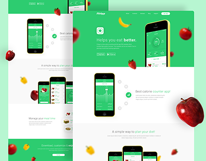 FitApp - Fitness App Landing Page | #3 PSD To HTML