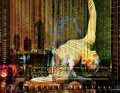 Blade Runner. Photo collage.