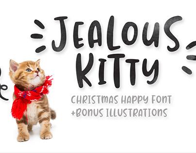Jealous Kitty - Christmas Crafty Font