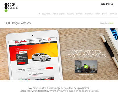 CDK Global Product Landing Page