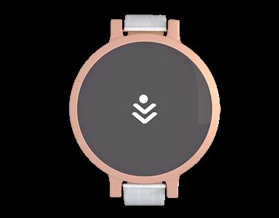 Smartwatch interface. UI/UX