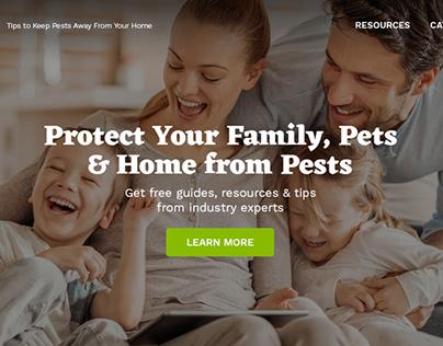 Pest Control Resources Website & Logo Design