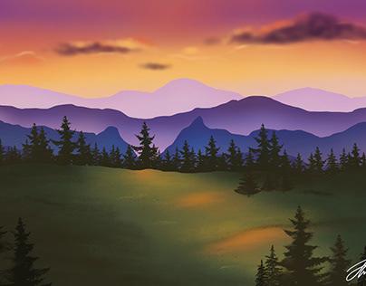 Evening Landscape | illustration