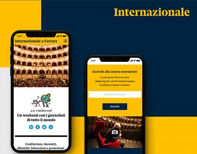 Web Design - Festival Internazionale a Ferrara