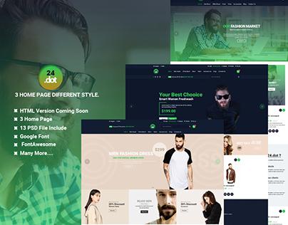 24Dot - eCommerce PSD Template