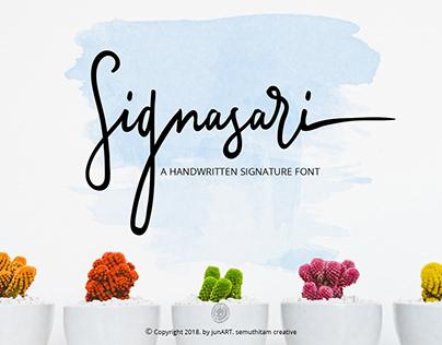 Signasari Signature Font