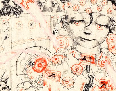 opticPIE, ink on canvas 2019