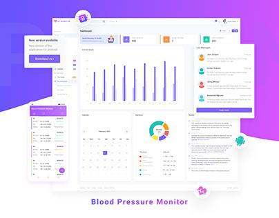 Blood Pressure Monitor | UX/UI | dasboard | android app