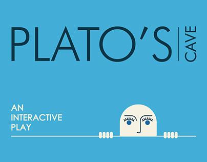 """Ιdentity for """"Plato's Cave"""" an interactive play"""