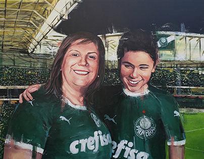 Nickollas e Silvia Grecco / Palmeiras - 100x150 Acrylic