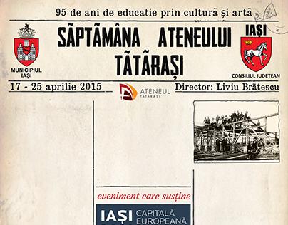 Event Poster - Zilele Ateneului Tatarasi 2015