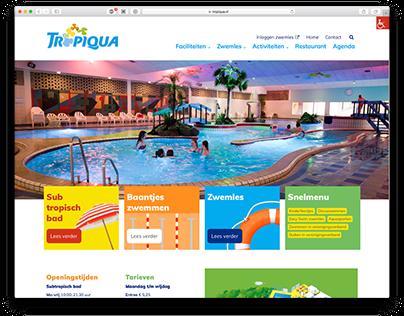 Website subtropisch zwembad Tropiqua