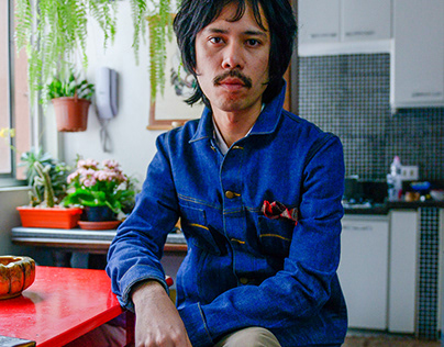 Jaqueta Koi Japanese Selvedge Denim Dion Ochner