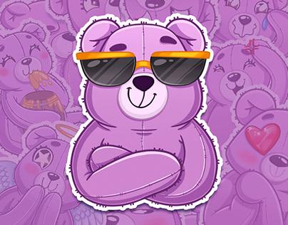 Sticker pack Bear Boo
