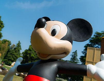 Statue Disney per mostra 'Topolino e l'Italia'