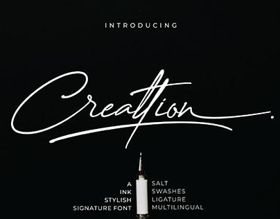 FREE | Creattion Elegant Signature Script