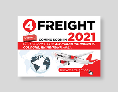 Ad design for cargo shipping company