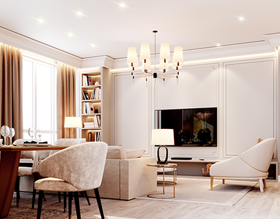 Neoclassic Apartment- Full CG
