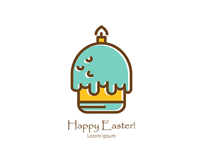 Free Happy Easter linear icons