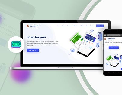 UI UX Web Design - LoanNow Sample