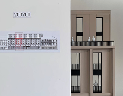 Scale model of Hotel facade for Architectural contest