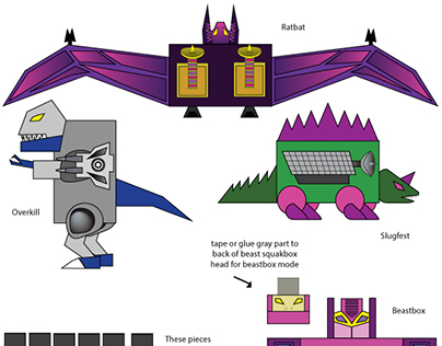 Paper Transformers: Soundwave Friends