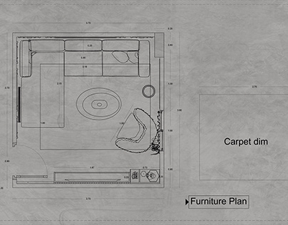 WORKING DRAWING FOR LIVING ROOM
